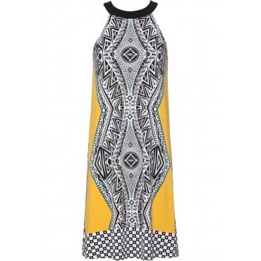 Sommerkleid ohne Ärmel  in gelb  von bonprix