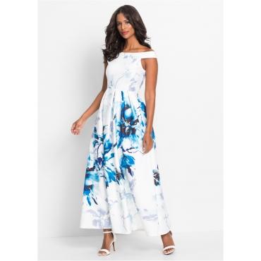 Off-Shoulder-Kleid ohne Ärmel  in weiß für Damen von bonprix