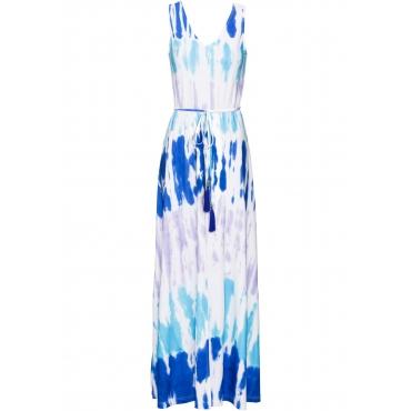 Sommerkleid ohne Ärmel  in weiß von bonprix