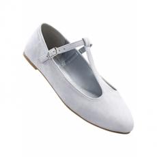 Spangenballerina in grau für Damen von bonprix