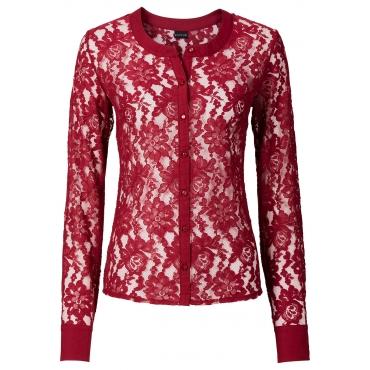 Spitzen-Bluse in rot für Damen von bonprix