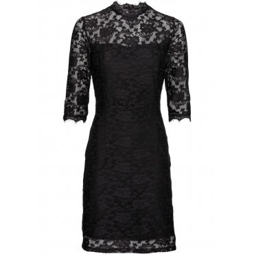 Spitzen-Shirtkleid 3/4 Arm  in schwarz für Damen von bonprix