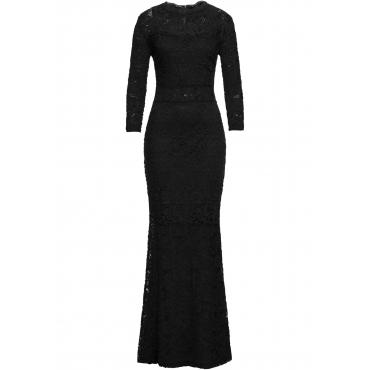 Spitzenkleid 3/4 Arm  in schwarz für Damen von bonprix