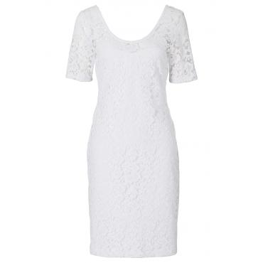 Spitzenshirtkleid/Sommerkleid kurzer Arm  in weiß von bonprix