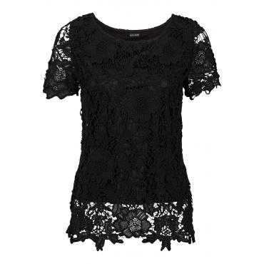 Spitzentop in schwarz für Damen von bonprix