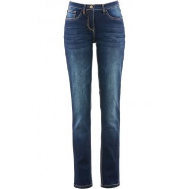 STRAIGHT-Stretch-Jeans mit bequemer Oberschenkelweite in blau für Damen von bonprix