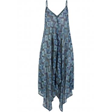 Strandkleid ohne Ärmel  in blau für Damen von bonprix