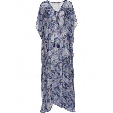 Strandkleid halber Arm  in blau für Damen von bonprix