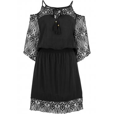 Strandkleid halber Arm  in schwarz für Damen von bonprix