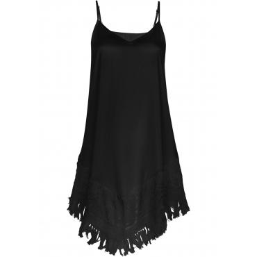Strandkleid ohne Ärmel  schwarz Damen bonprix