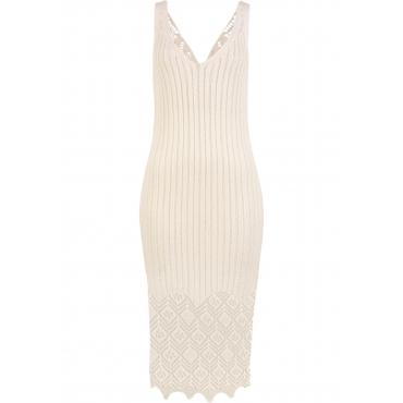 Strandkleid ohne Ärmel  in weiß für Damen von bonprix