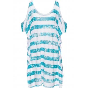 Strandkleid halber Arm  in weiß für Damen von bonprix