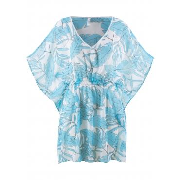 Strandtunika halber Arm  in blau für Damen von bonprix