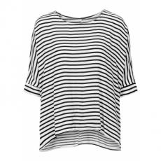 Streifen-Tunika kurzer Arm  in weiß von bonprix