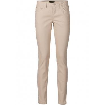 Stretch-Hose in beige für Damen von bonprix