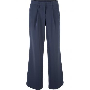 Stretch-Hose weit in blau für Damen von bonprix