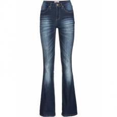 Stretch-Jeans im Bootcut in blau für Damen von bonprix