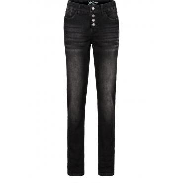 Stretch-Jeans im Boyfriend-Style in schwarz für Damen von bonprix