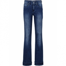 Stretch-Jeans im Flared-Look in blau für Damen von bonprix