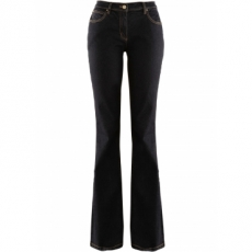 Stretch-Jeans mit Bootcut in schwarz für Damen von bonprix