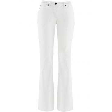Stretch-Jeans mit Bootcut in weiß für Damen von bonprix