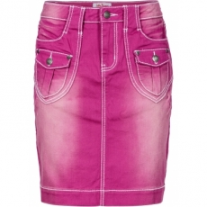 Stretch-Jeans-Rock in pink für Damen von bonprix