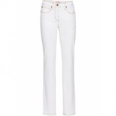 Stretch-Jeans Straight in weiß für Damen von bonprix