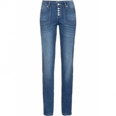 Stretch-Jeans zum Krempeln STRAIGHT in blau für Damen von bonprix