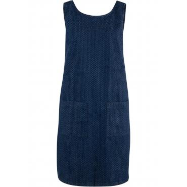 Stretch-Jeanskleid, bedruckt ohne Ärmel  in blau für Damen von bonprix