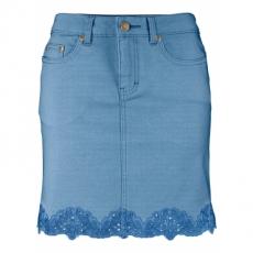 Stretch-Jeansrock in blau für Damen von bonprix