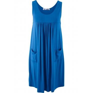 Kaschierendes Stretch-Kleid, unifarben ohne Ärmel  in blau für Damen von bonprix
