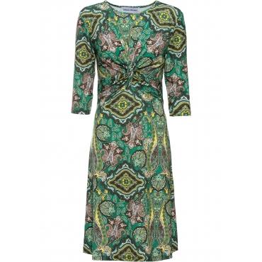 Stretch-Kleid mit Knoten-Optik 7/8 Arm  in grün für Damen von bonprix