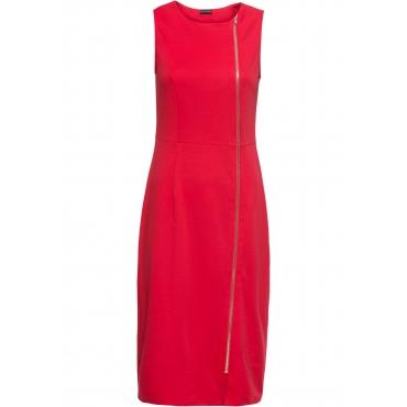 Stretch-Kleid mit Reißverschluss ohne Ärmel  in rot für Damen von bonprix