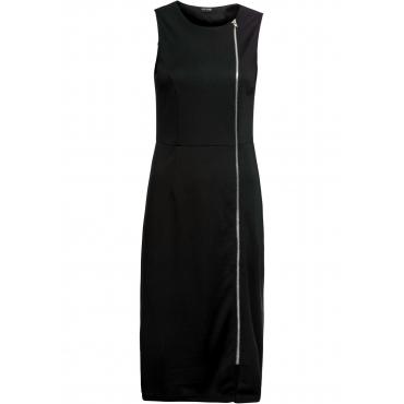 Stretch-Kleid mit Reißverschluss ohne Ärmel  in schwarz für Damen von bonprix