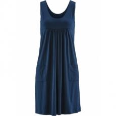 Stretch-Kleid ohne Ärmel  in blau von bonprix