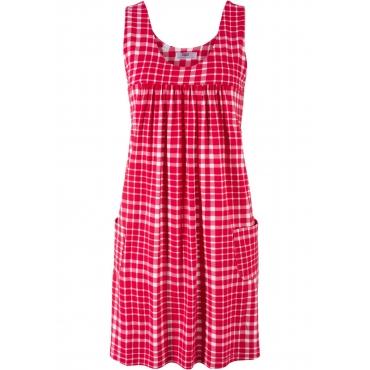 Stretch-Kleid ohne Ärmel  in rot für Damen von bonprix