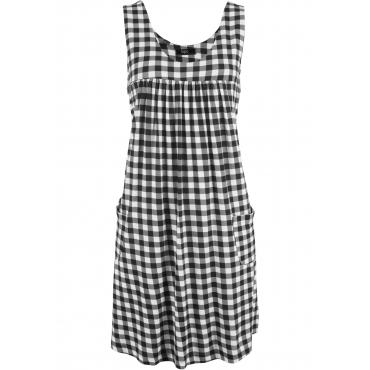 Stretch-Kleid ohne Ärmel  in schwarz für Damen von bonprix