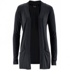 Stretch-Shirtjacke langarm  in schwarz für Damen von bonprix