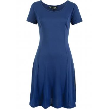 Stretch-Shirtkleid in fließender Modal-Qualität kurzer Arm  in blau von bonprix