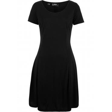 Stretch-Shirtkleid in fließender Modal-Qualität kurzer Arm  in schwarz von bonprix