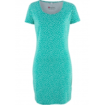 Stretch-Shirtkleid, Kurzarm in grün  von bonprix