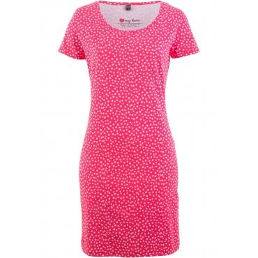 Stretch-Shirtkleid, Kurzarm in pink  von bonprix