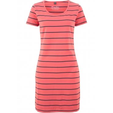 Stretch-Shirtkleid, Kurzarm in rot  von bonprix
