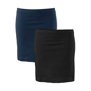 Basic Baumwollrock Stretch-Jersey in blau für Damen von bonprix