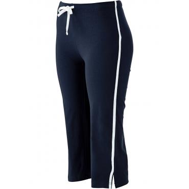 Stretch-Sportcapri in blau für Damen von bonprix