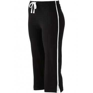 Stretch-Sportcapri in schwarz für Damen von bonprix