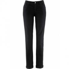 Stretchjeans Straight in schwarz für Damen von bonprix