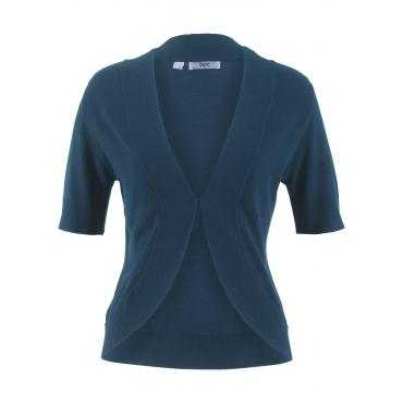 Strick-Bolero, kurzarm in blau für Damen von bonprix