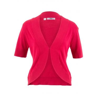 Strick-Bolero, kurzarm in rot für Damen von bonprix