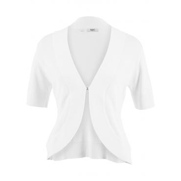Strick-Bolero, kurzarm in weiß für Damen von bonprix